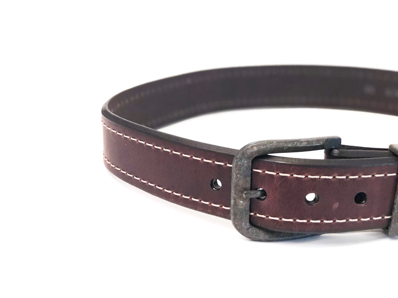 The Granada Belt Western Leather Genuine Bison Leather Belt Cowboy Cowgirl Western Boutique Brown Black Belt