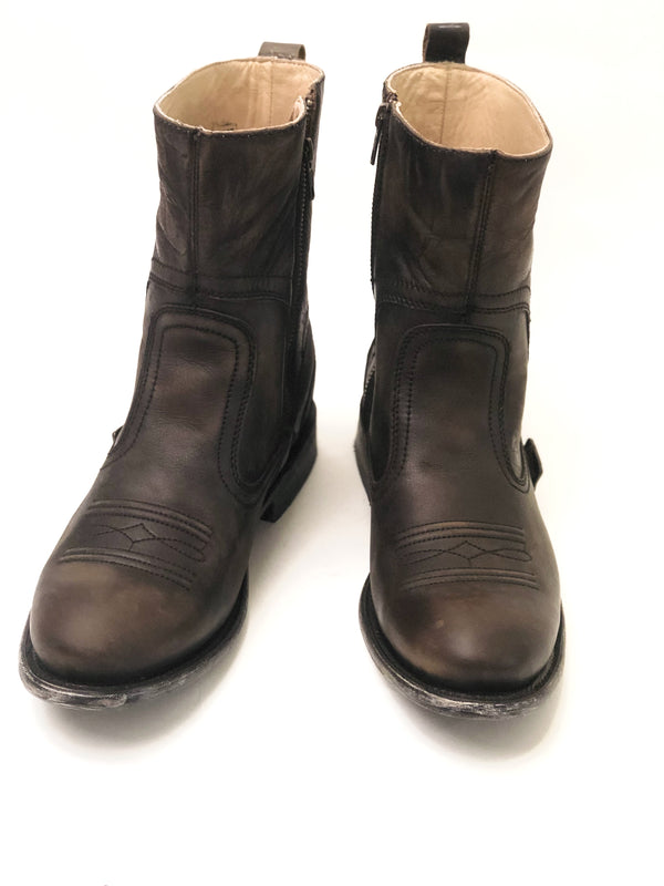 Distressed Western Boots w/ Zipper Leather Boots Western Store Mens Boots Cowboy
