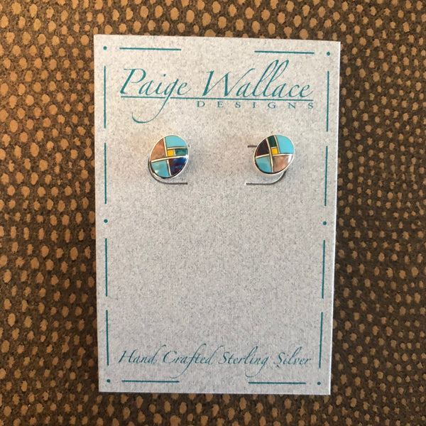 Inlay Stud Earrings Paige Wallace Western Jewelry Turquoise Gifts for Friends Western Boutique Bozeman Montana