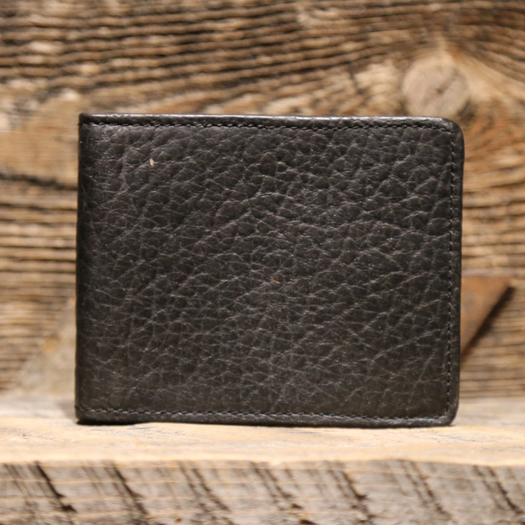 Black Vintage Bison Mesa Wallet