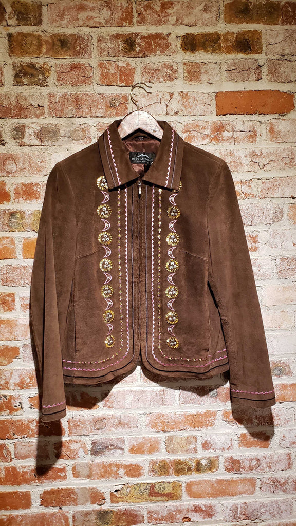 Montanaco Leather Moon Sparkle Jacket