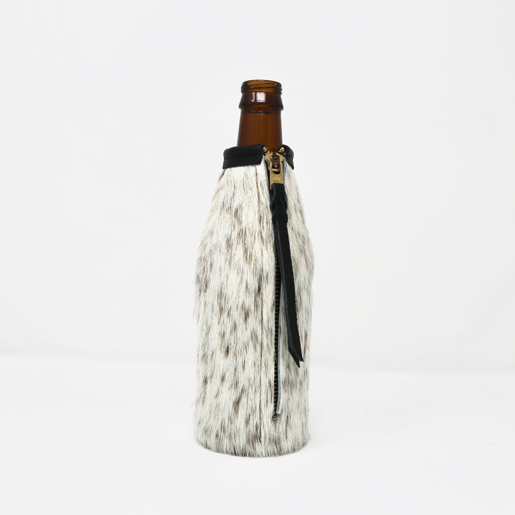 Cowhide Bottle Koozie