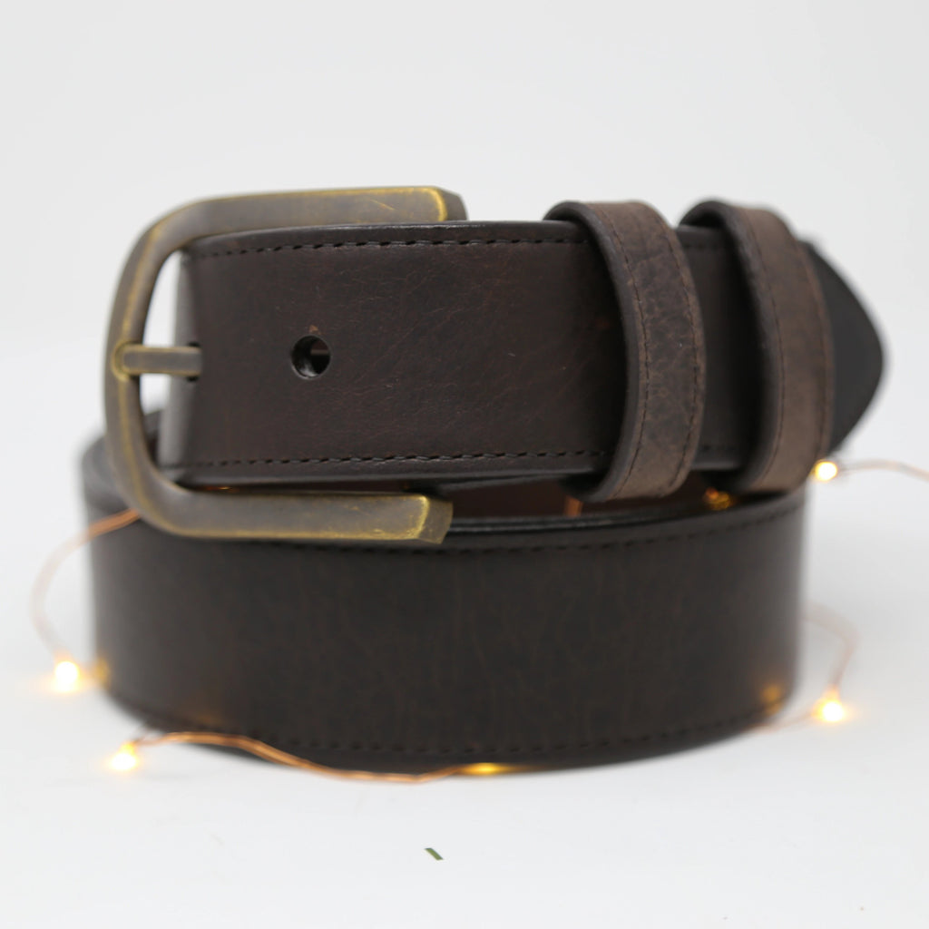 Calhoun Bison Leather Belt