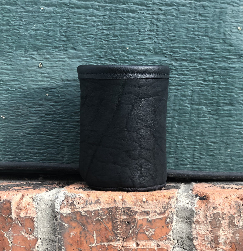 Bison Leather Short Koozie Montana Made Gifts Friends Accessories Western Bozeman Montana