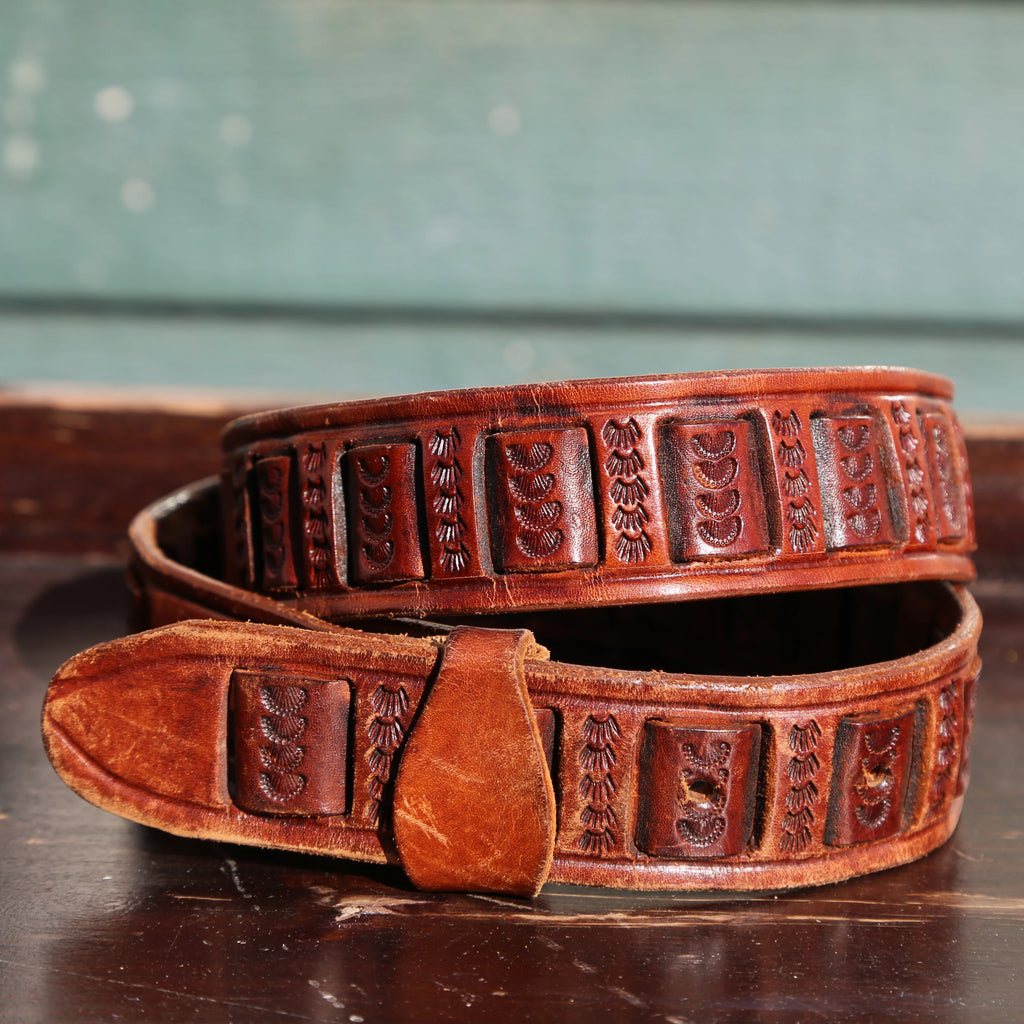 Vintage Mexico Leather/Stamp Belt
