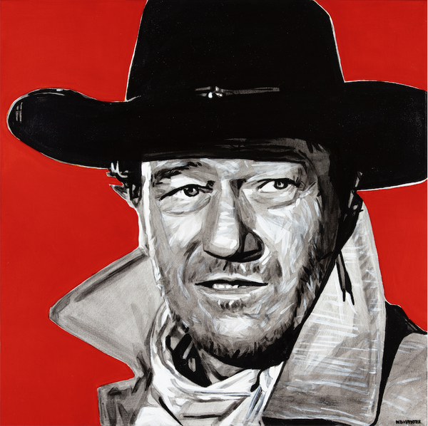 Artwork Local Artist Will Hunter Western Art Bozeman Montana Cowboy John Wayne Head West Bozeman Art Gallery Montana