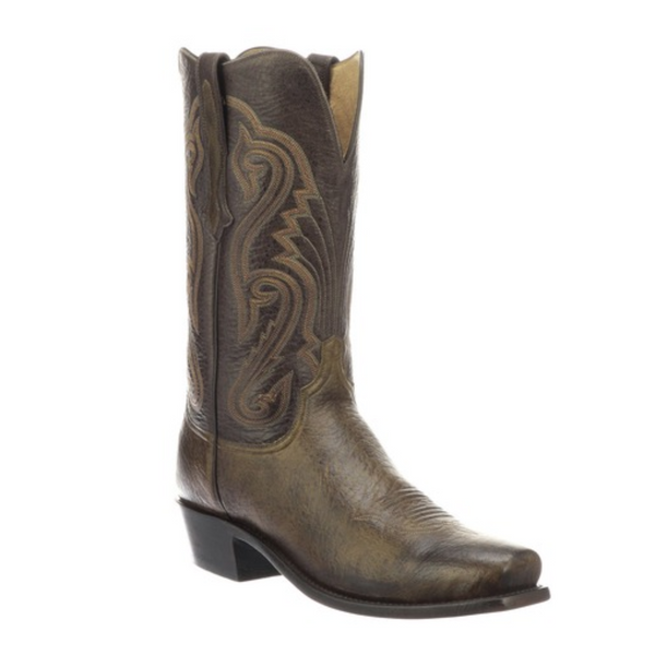 Lucchese Elk Olive Boots N1690.Q3 Head West Bozeman Montana Cowboy Boots Rodeo American Elk Handmade in Texas Western Boot