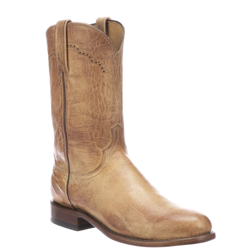 Shane Boot by Lucchese Western Cowboy Boot Roper Goat Leather Handmade in Texas, American Made, Cowboy, Rodeo, Head West Bozeman Montana