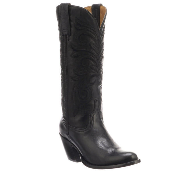 Lucchese Black Embroidered Boot - headwestbozeman