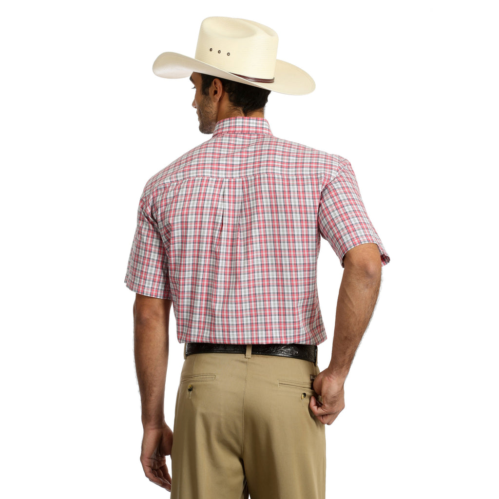 Wear this shirt to a summertime rodeo! The plaid shirt is made with breathable fabric and with subtle western style.
