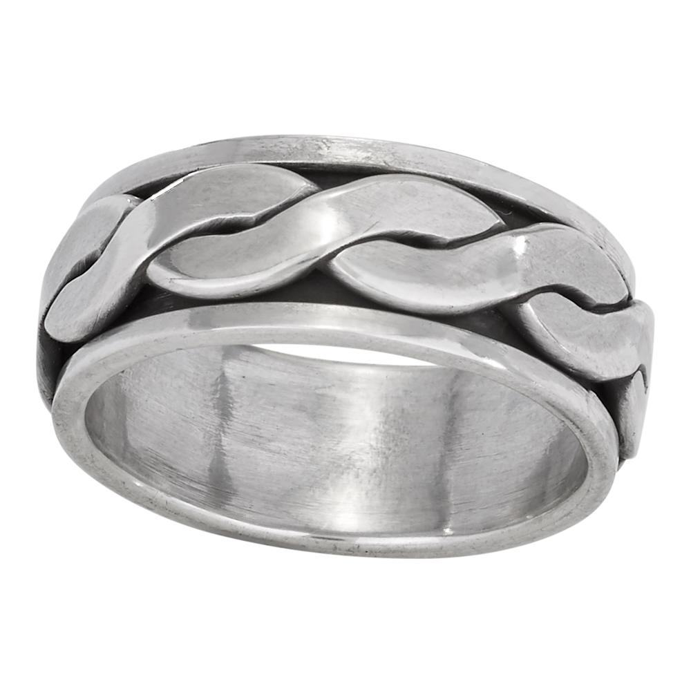 Braided Sterling Silver Ring - headwestbozeman