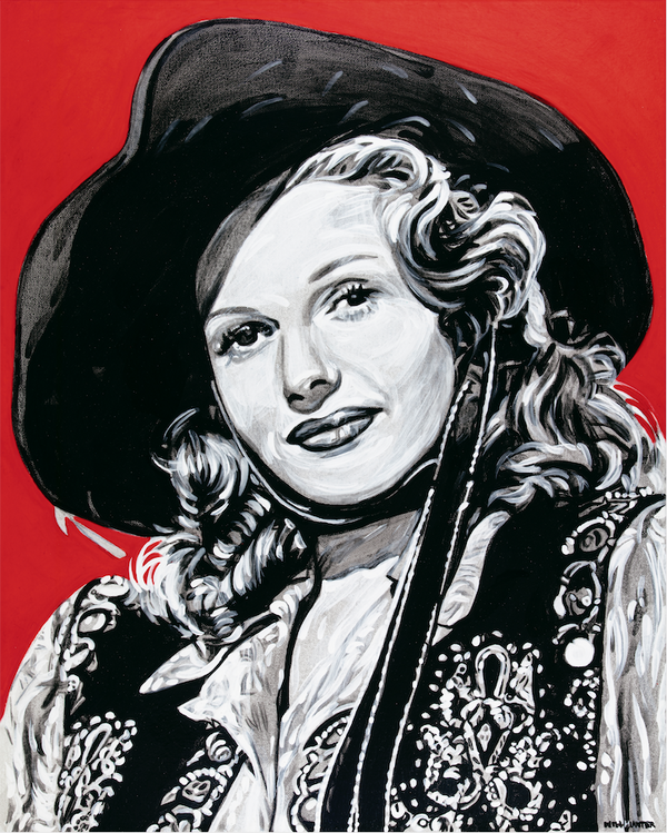 Rita Hayworth Will Hunter Local Artist Wild West Western Paintings Cowgirl Bozeman Montana