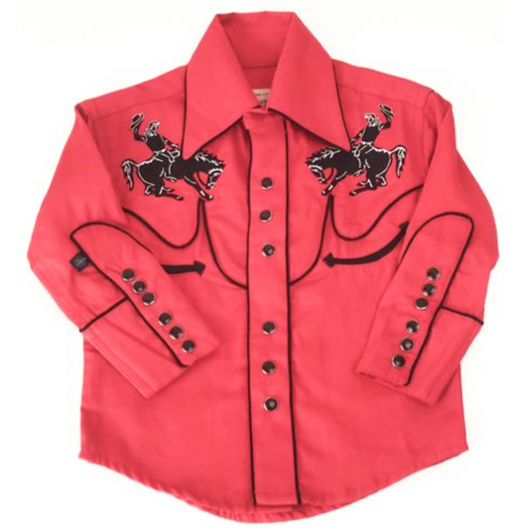 Rockmount Bronco Shirt Red Kids Western Shirt Cowboy Cowgirl