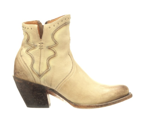 Lucchese Bone Distressed Bootie - headwestbozeman