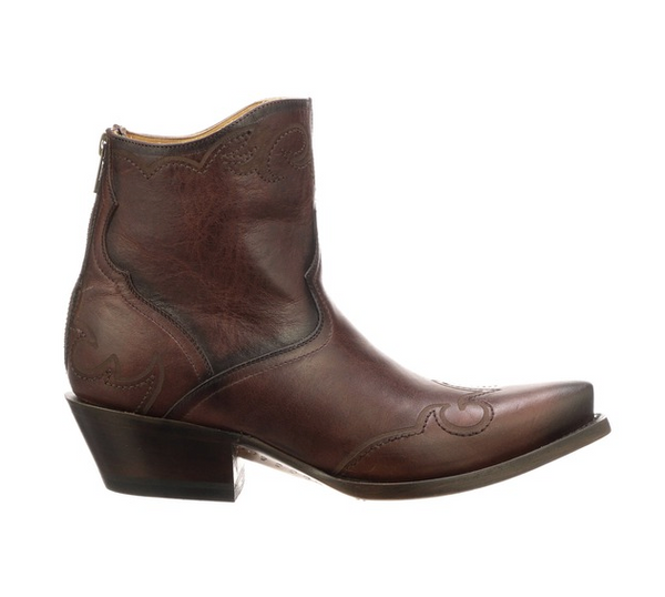 Lucchese Brown Cinnamon Stitch WGTP Bootie Cowgirl Western Boutique Head West Bozeman Montana