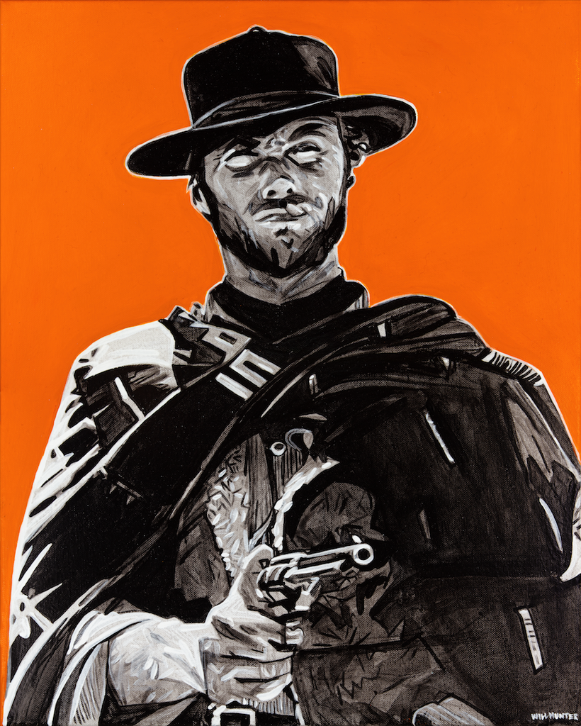 Clint Eastwood by Will Hunter - headwestbozeman