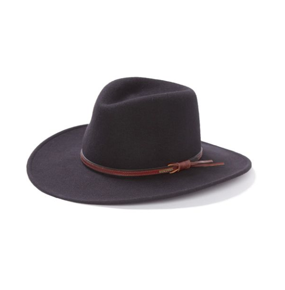 Made with water repellent wool and styled with a classic pinch front crown, the Bozeman western cowboy hat is the best choice for any adventure.