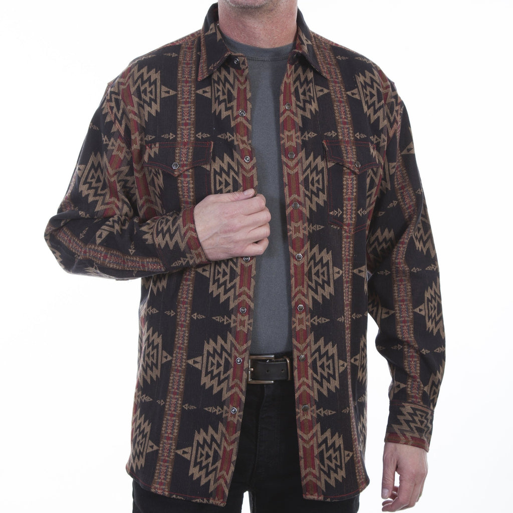 An aztec western jacket/coat made by Scully.
