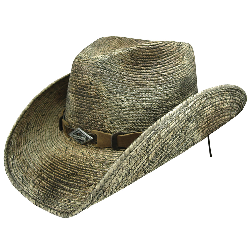 The Monterrey bay hat is a classic western cowboy hat fit for rodeos and summertime activities.