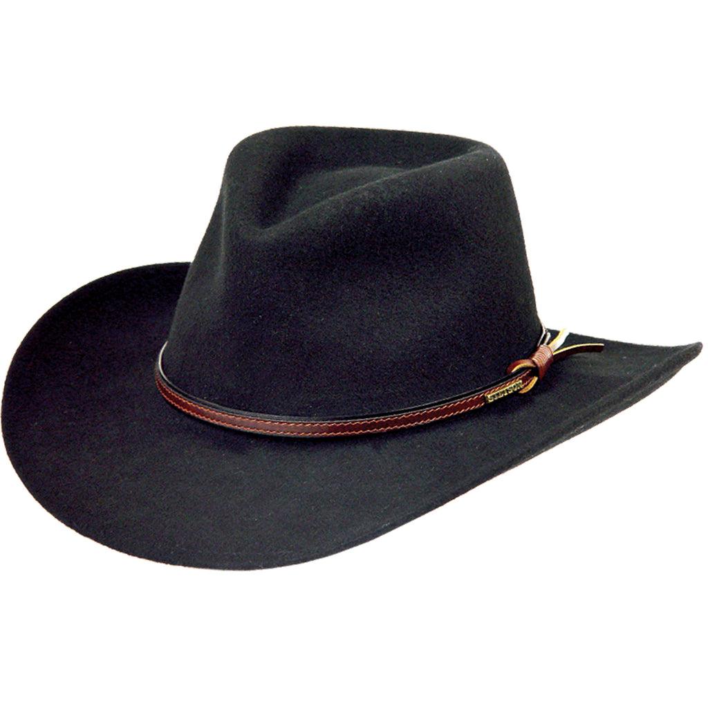 This Stetson hat is made with water repellent wool and styled with a classic pinch front crown, the Bozeman western cowboy hat is the best choice for any adventure.