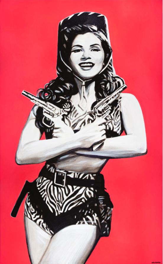 Two Gun Pin-Up - headwestbozeman