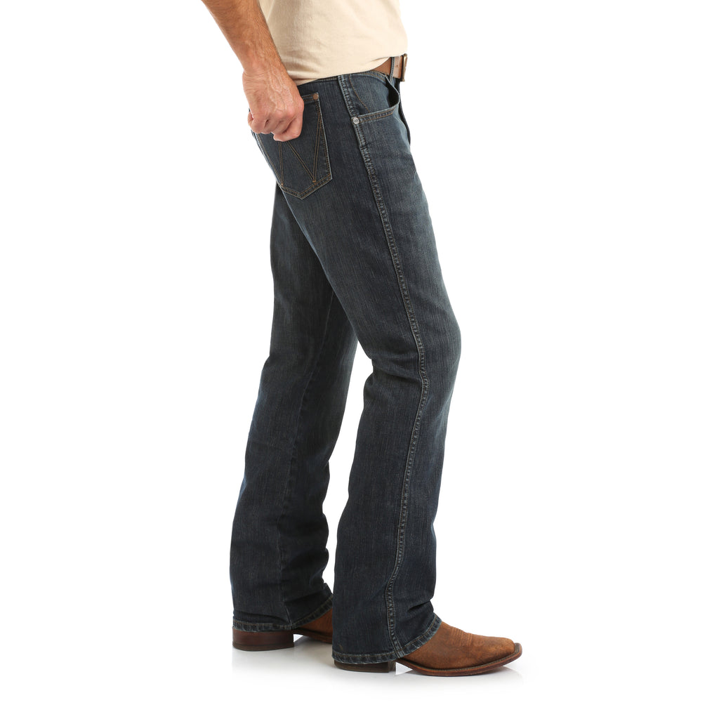 A Wrangler Retro Men's western jean found at Head West in downtown Bozeman, Montana.