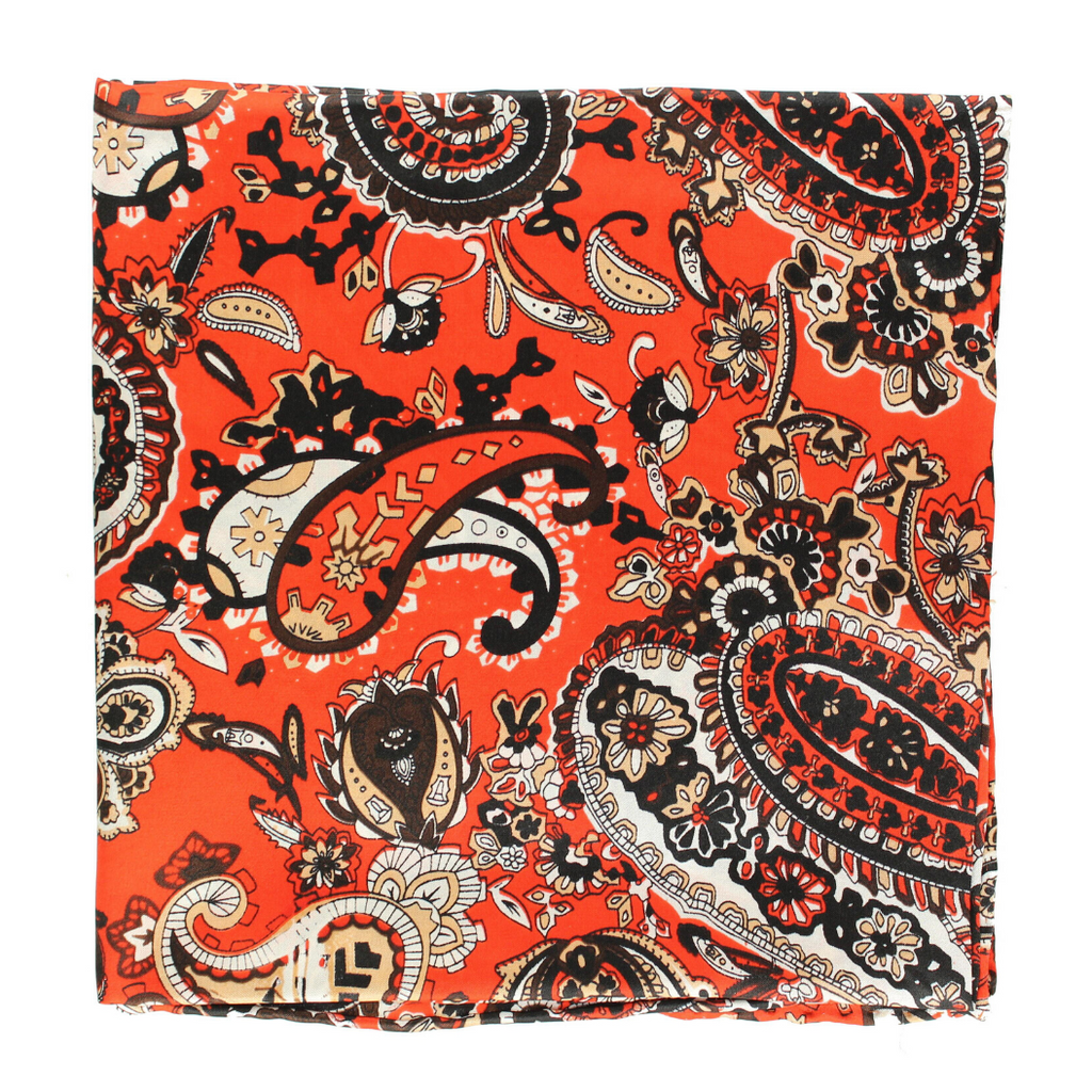 Orange Paisley Wild Rag