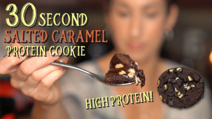 30-Second Salted Caramel Protein Cookie