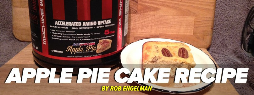 Healthy, Protein-Rich Apple Pie Cake Recipe