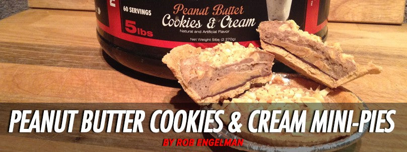 Healthy Peanut Butter Cookies and Cream Mini-Pies Recipe