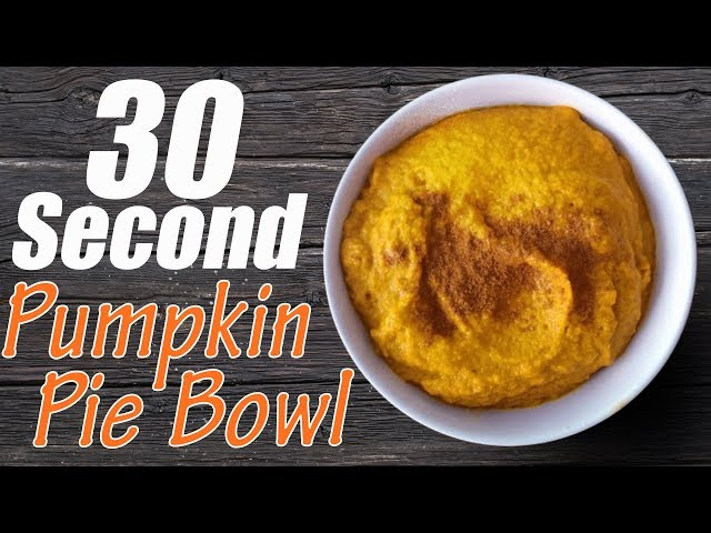 30-Second Pumpkin Pie Bowl