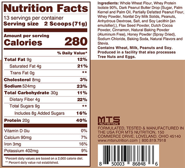 Outright Pancakes Nutrition Facts
