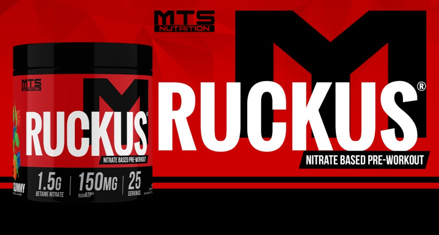 MTS Ruckus Nitrate Preworkout Banner