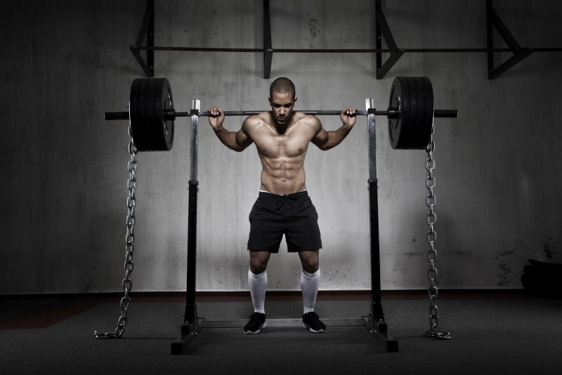 Barbell Squats With Chains