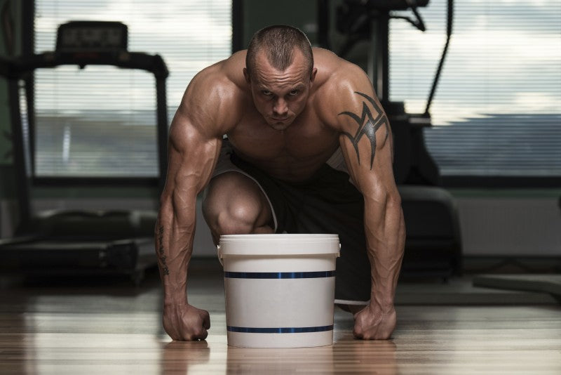 Bodybuilder With Casein
