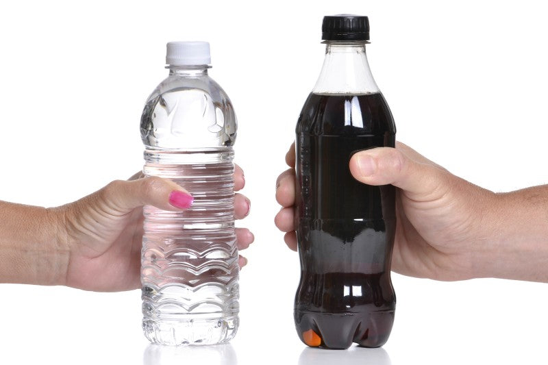 Water and Diet Soda