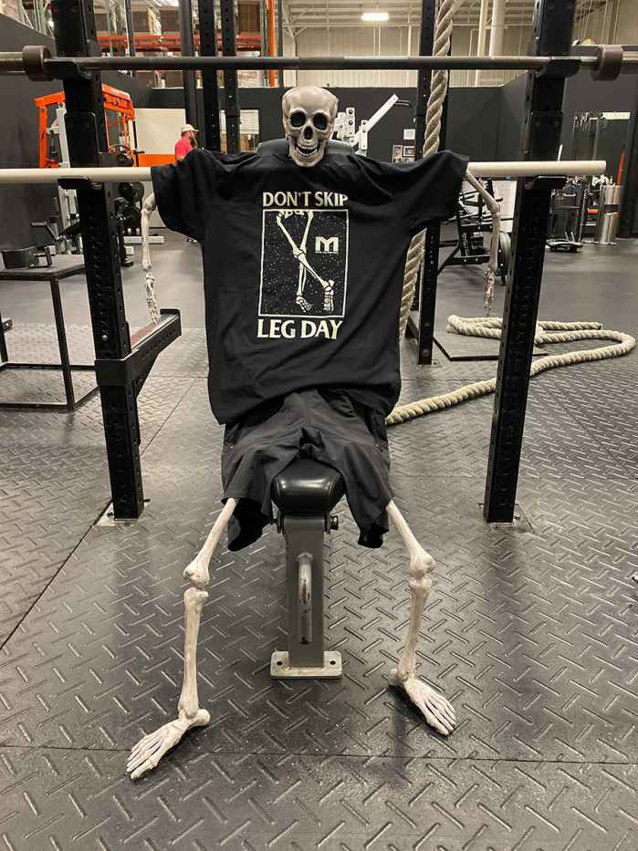 Dont Skip Leg Day Skeleton Tee by MTS
