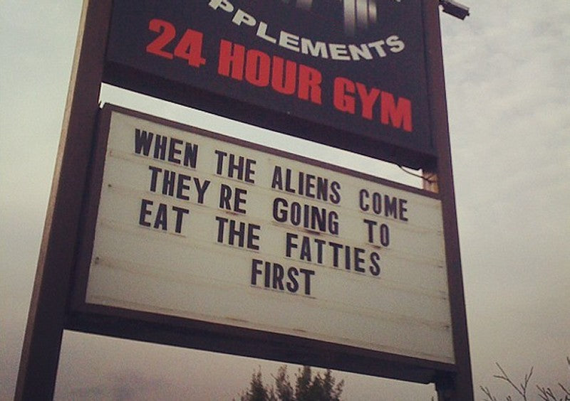 Aliens will eat the fatties first