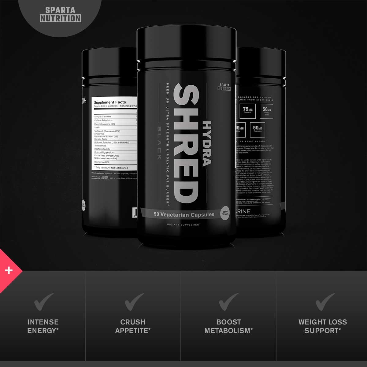 Sparta Nutrition HydraShred Black Benefits