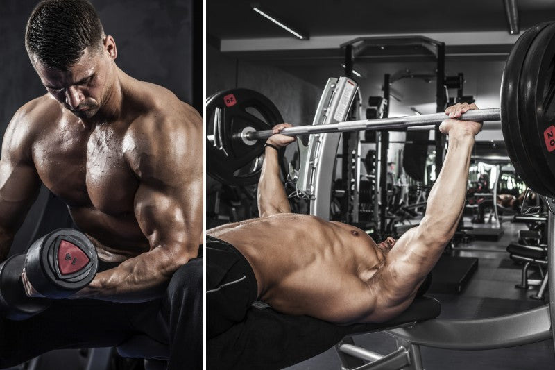 Bench Press and Bicep Curls