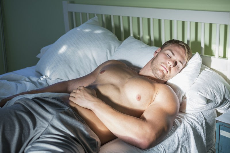 Muscular Man Sleeping
