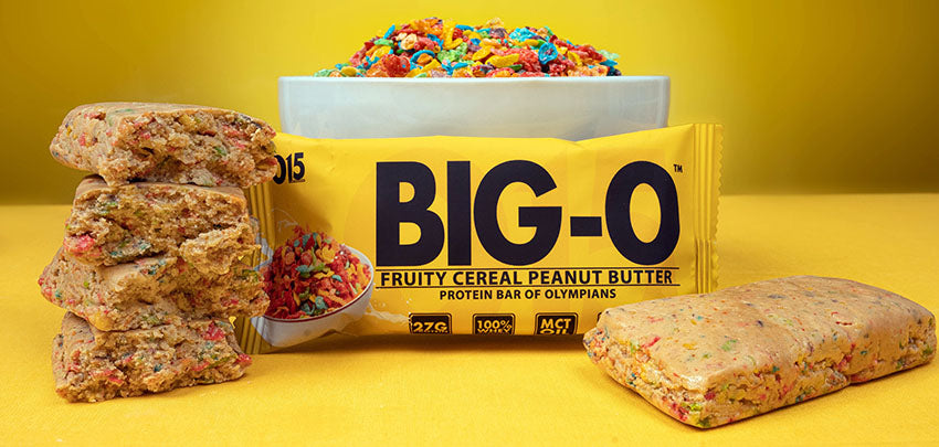 O15 Nutrition Big O Bar Fruity Cereal Banner