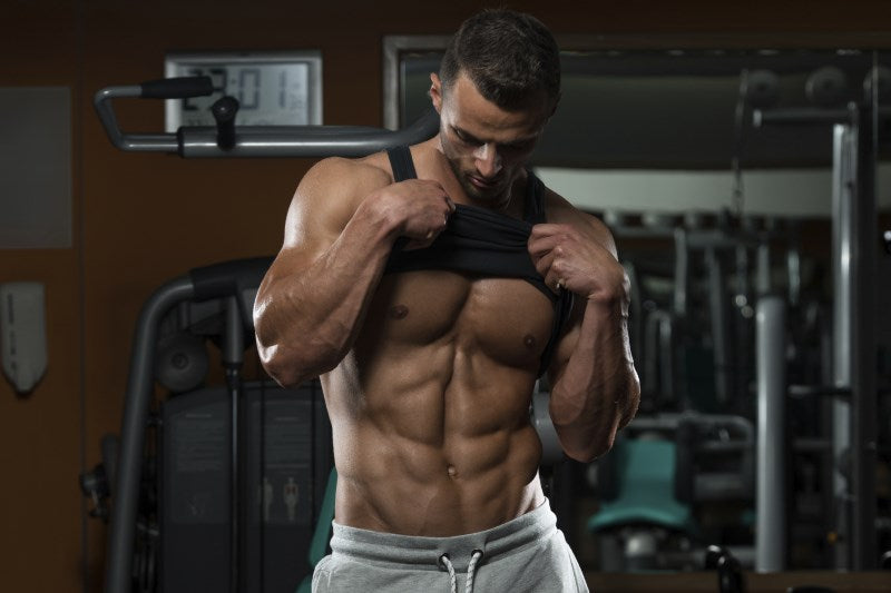 Man with Six Pack Abs