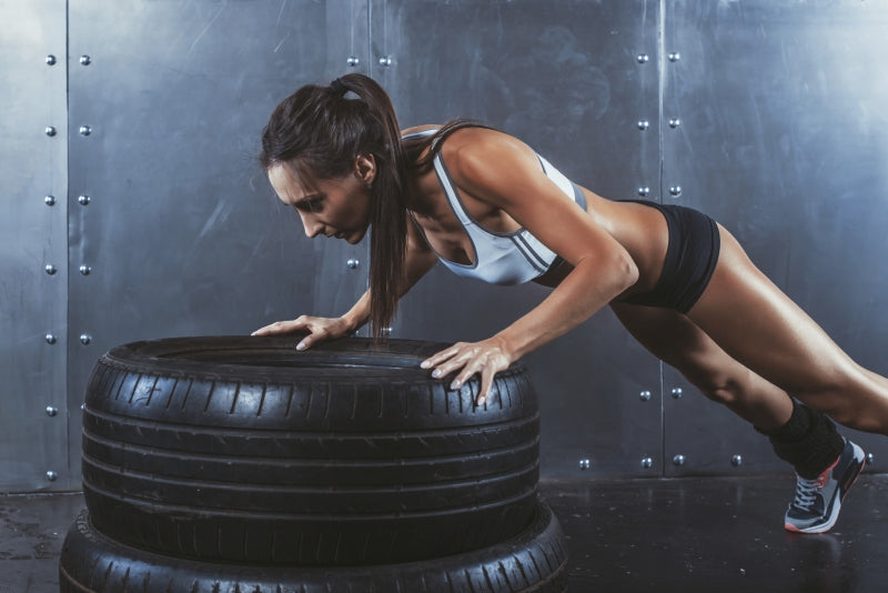 Push Ups on Tire