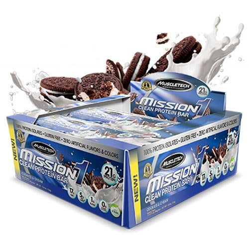 Mission 1 Bars box of 12 - Cookies & Cream