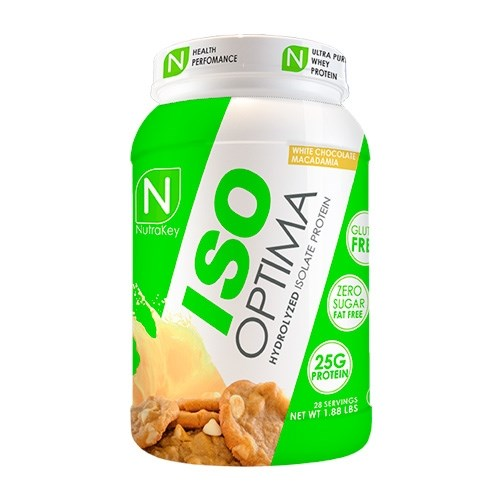 Nutrakey Iso Optima 2lb - white chocolate macadamia