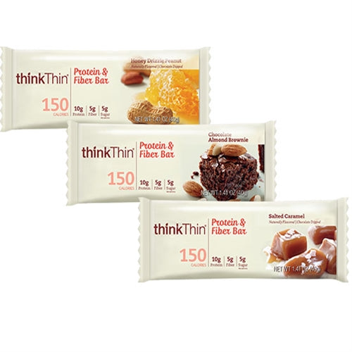 Protein and Fiber Bars Box of 10 - Salted Caramel