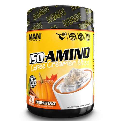 MAN Sports ISO-Amino Coffee Creamer Bliss 30 Servings - Pumpkin Spice