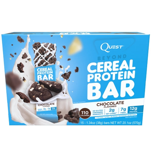 Quest Beyond Cereal Protein Bars Box of 15 - Waffle