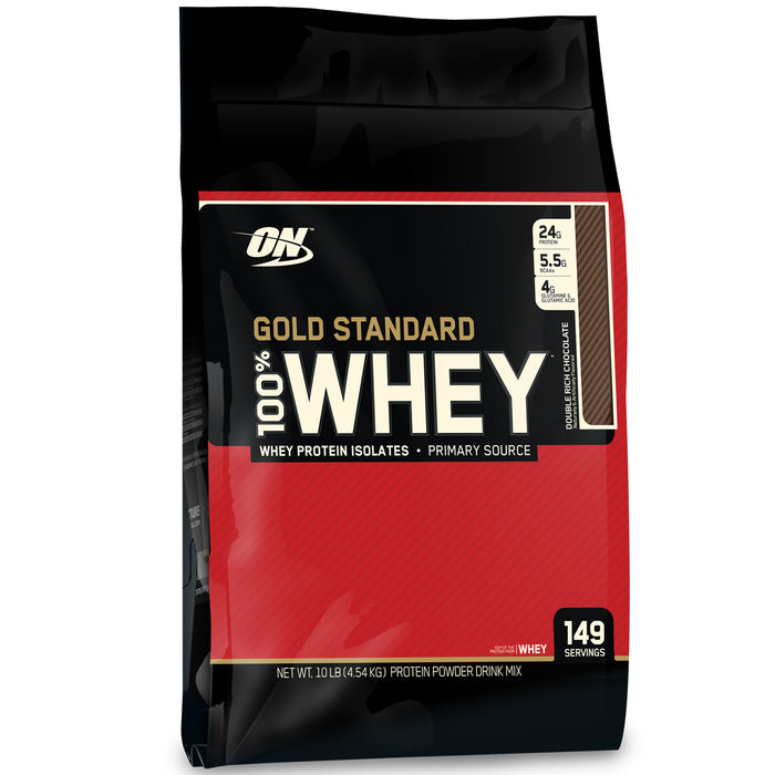 ON Gold Standard 100% Whey Protein 10lb - Double Rich Chocolate
